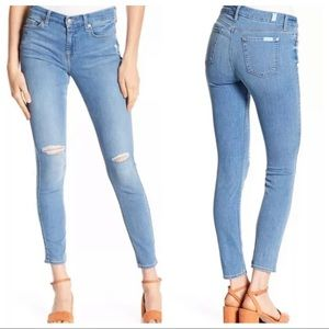 7 for all mankind Blair skinny light wash jeans